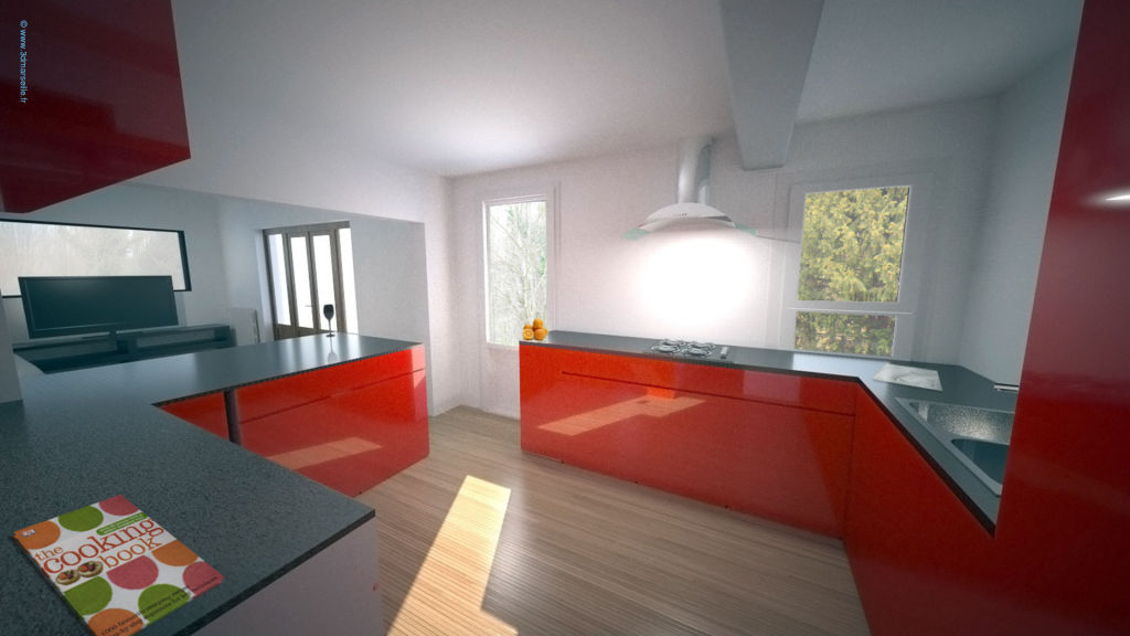 Projet d am nagement int rieur maison individuelle 3d marseille - Amenagement interieur 3d ...