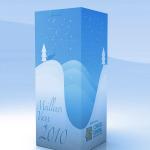 Graphisme pour les coffrets cadeaux d'hiver offerts par le Conseil Régional.