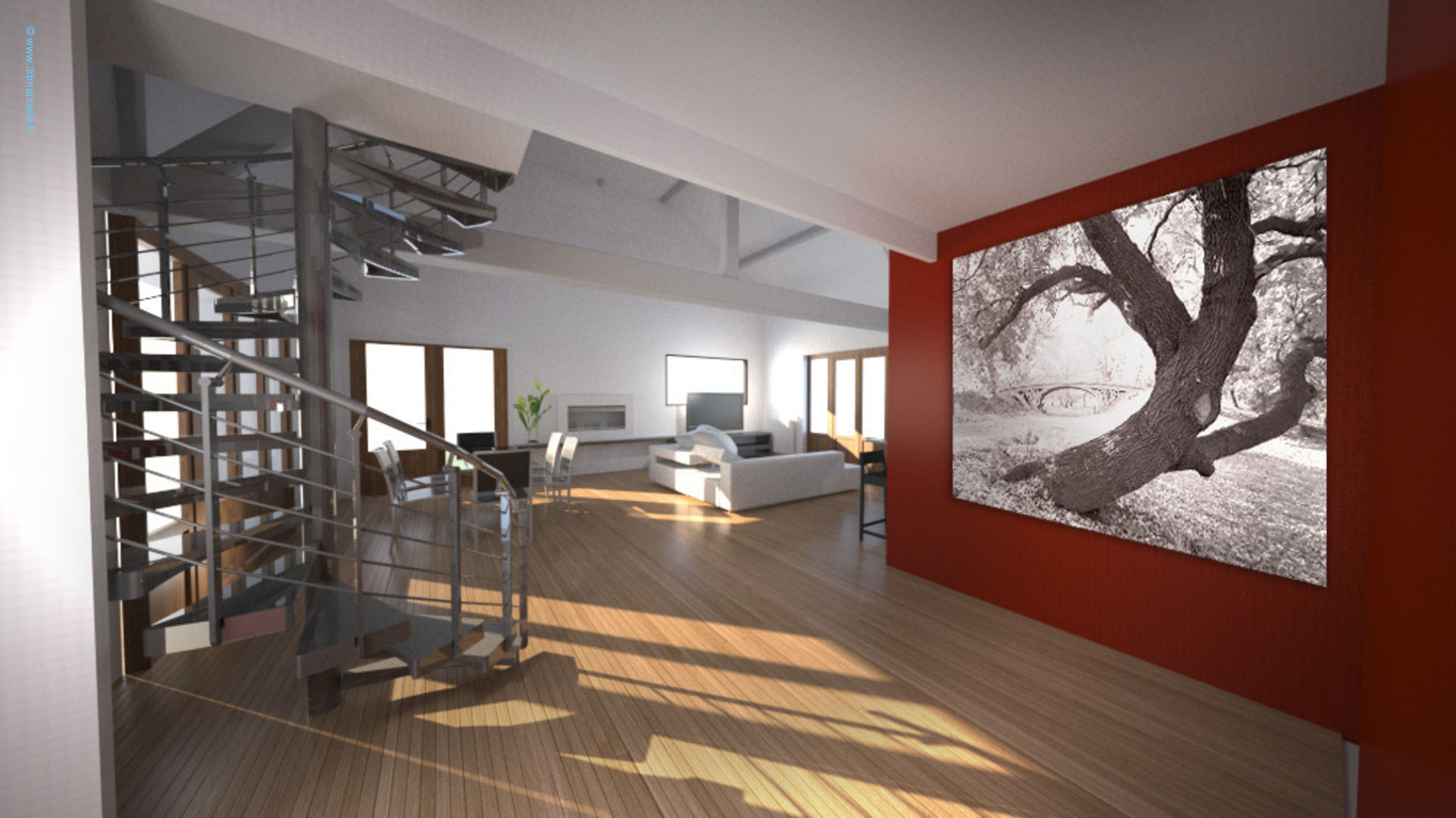 Projet d am nagement int rieur maison individuelle 3d for Decoration amenagement interieur