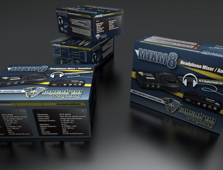 Packaging MXM8  Visualisation 3d