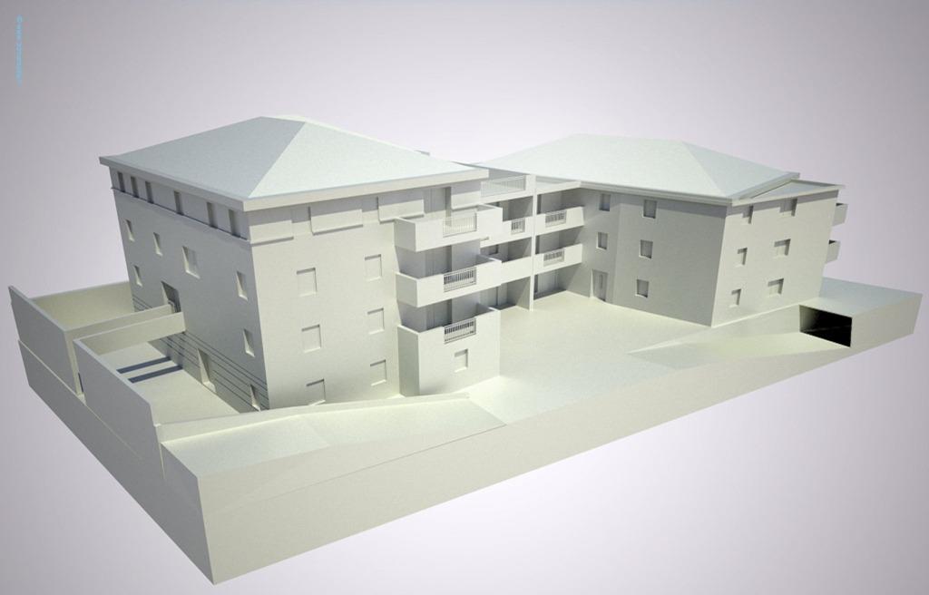 Maquette d architecture virtuelle au blanc 3d marseille for Maquette d architecture