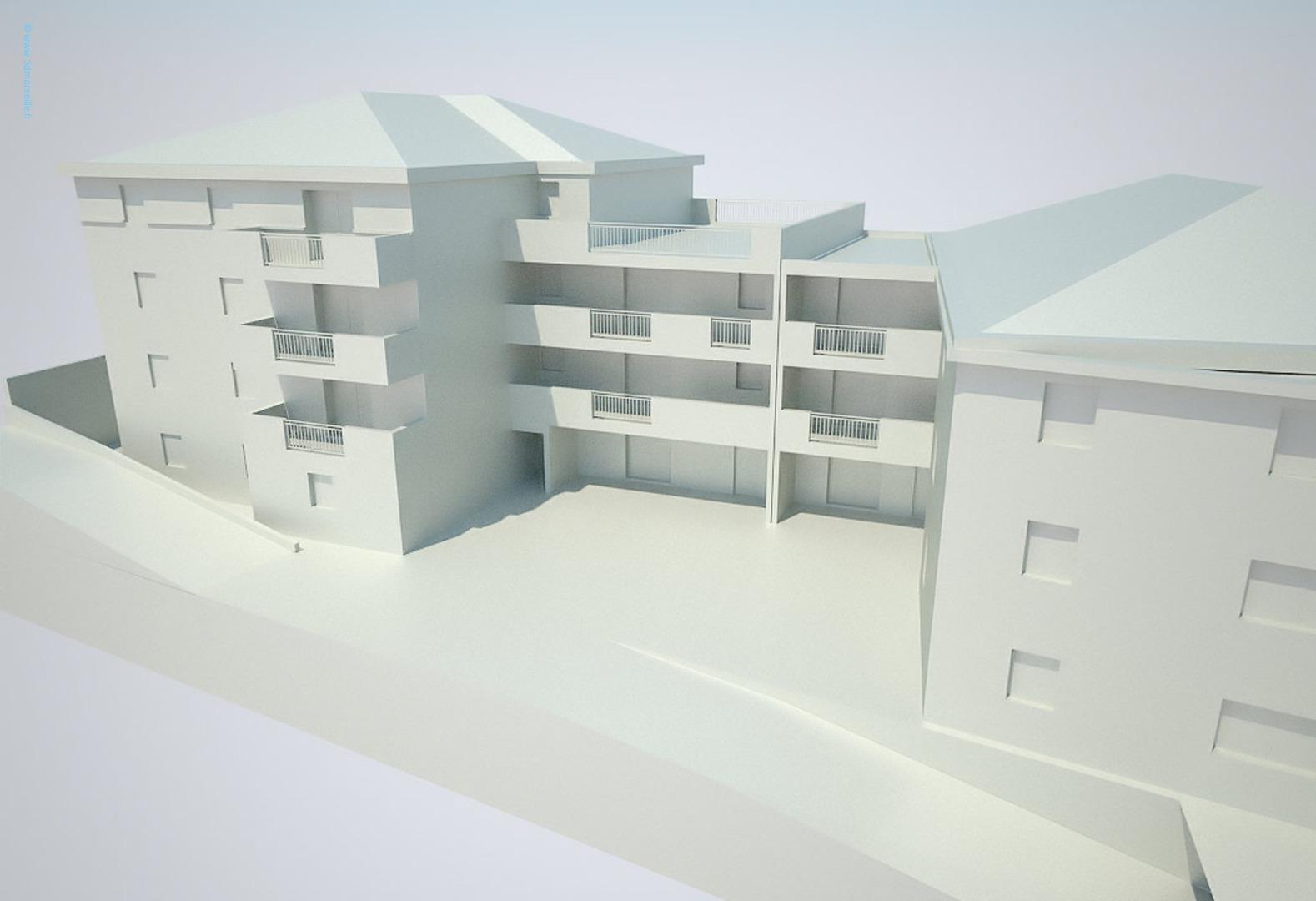 Maquettes virtuelle 3D au blanc les architectes