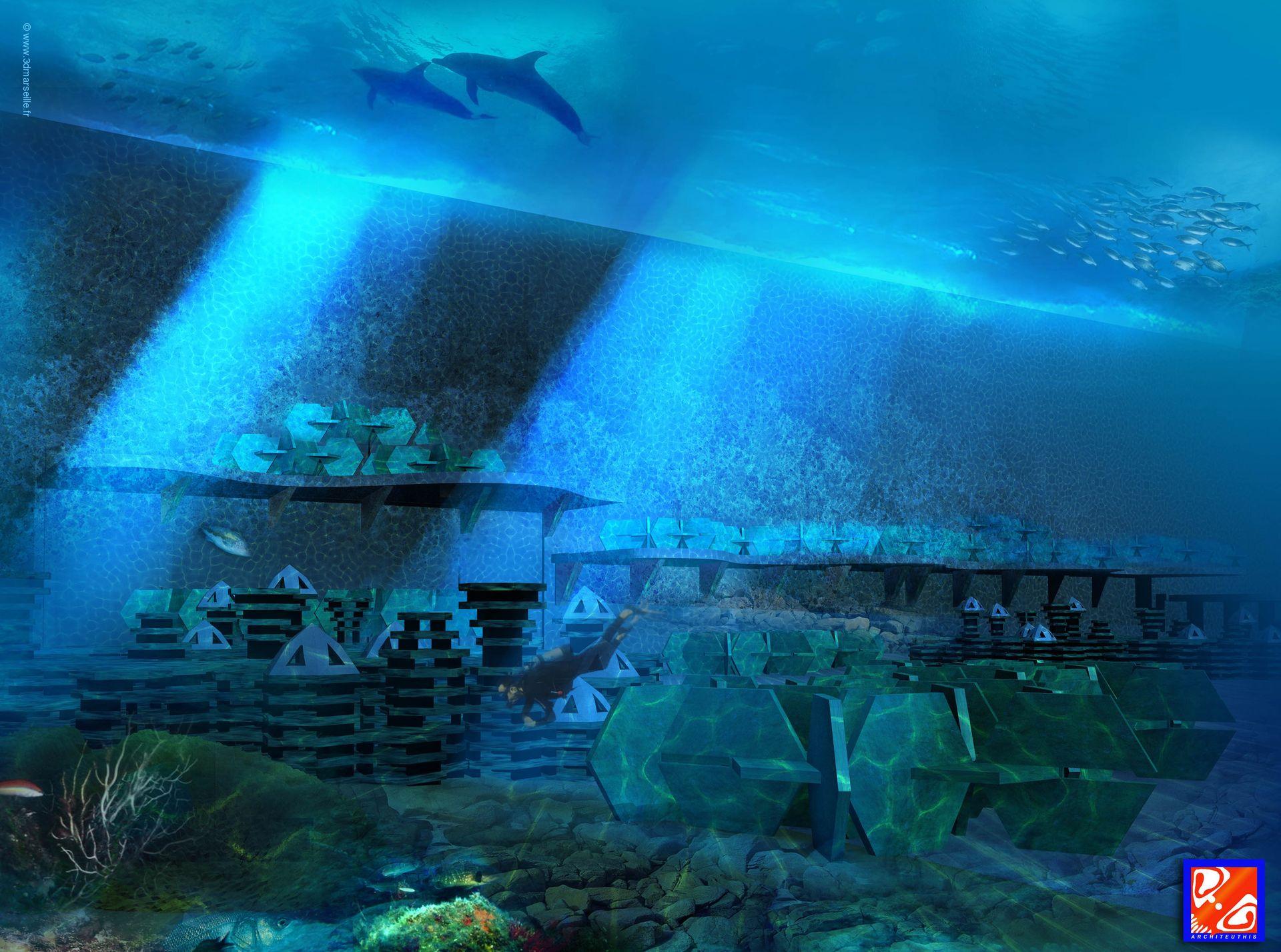 late-forme sous-marine de détente et d'observation