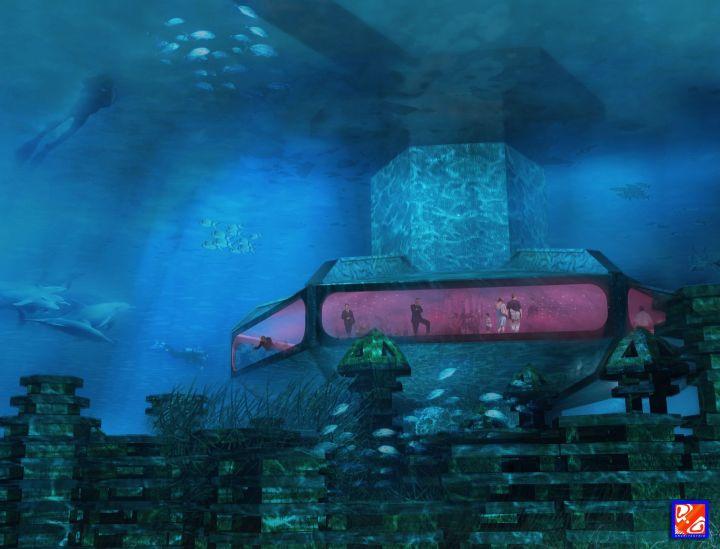 Plate-forme sous-marine de détente et d'observation