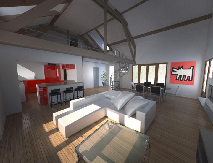 Projet d'aménagement intérieur maison individuelle