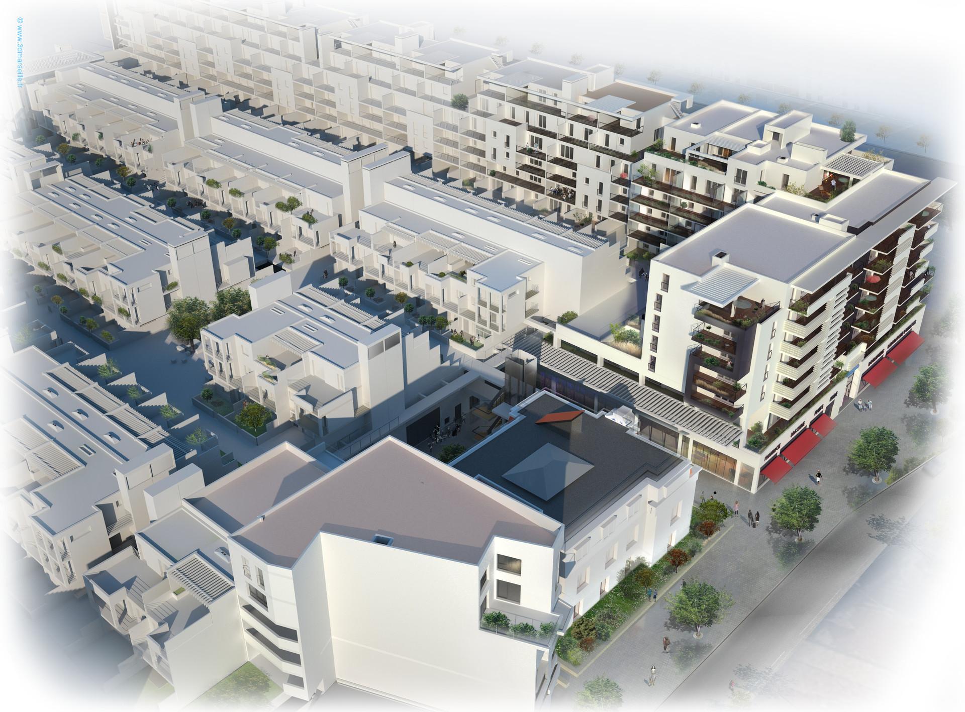 Un programme de grande dimension sur la zone grand Sud Est de Marseille.