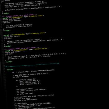 3d temps réel et la programmation three.js