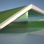 toitures végétaux, insertion dans le paysage, vues sur des vitrines, parvis larges