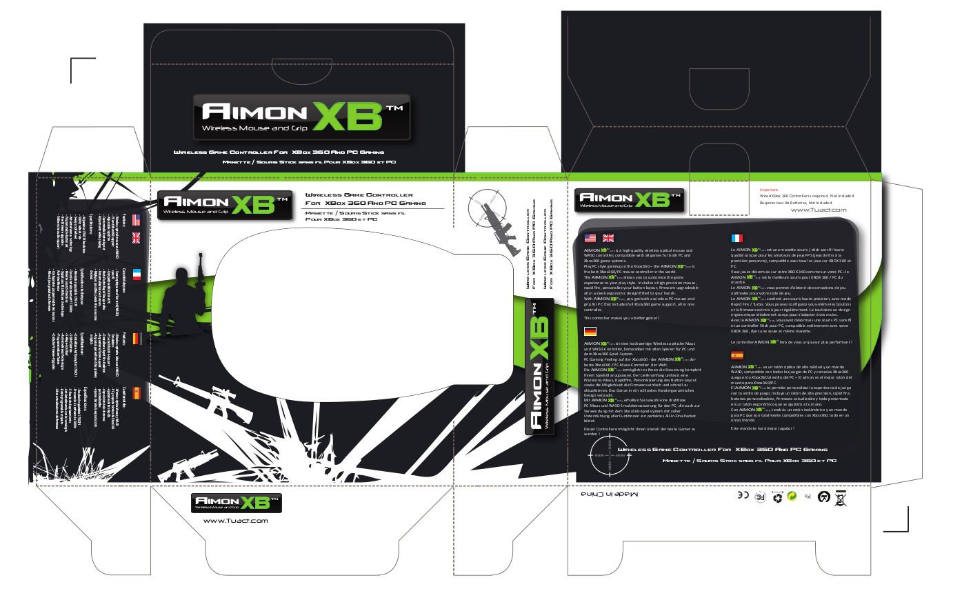 Packaging 3d à plat développé