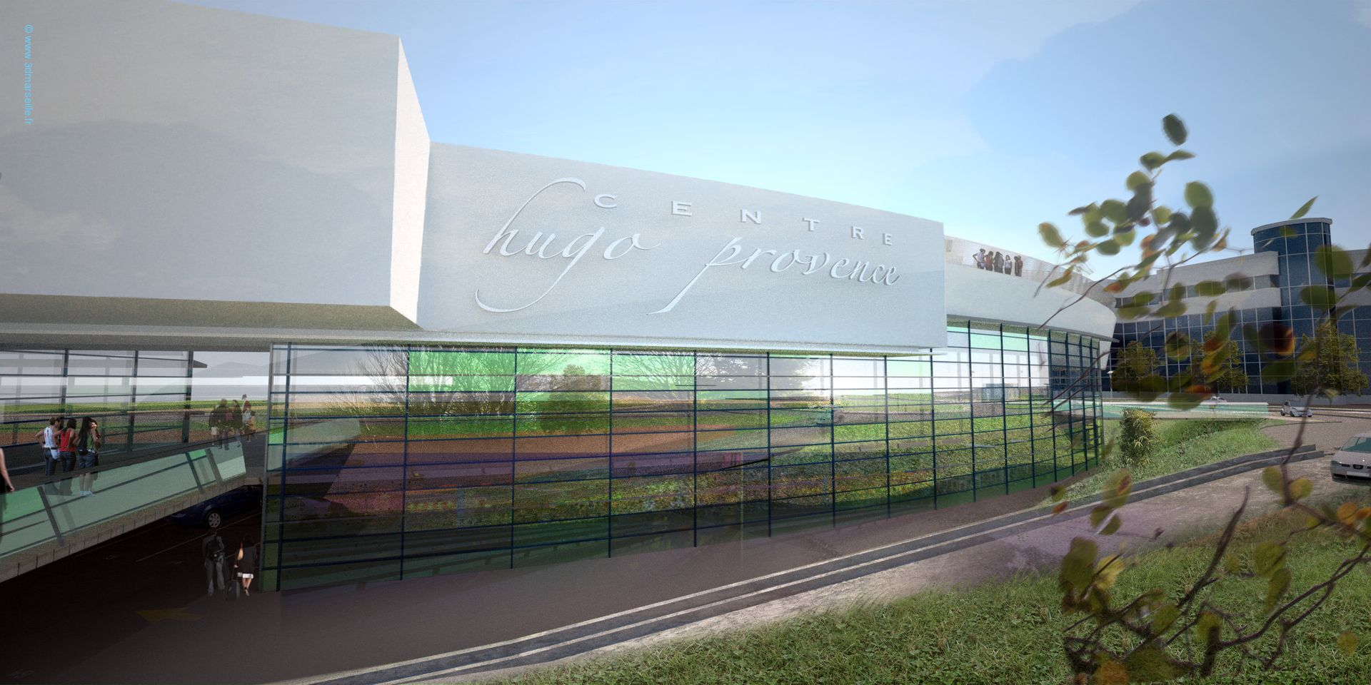 centre hugo provence a valence 1ere phase 3d marseille. Black Bedroom Furniture Sets. Home Design Ideas