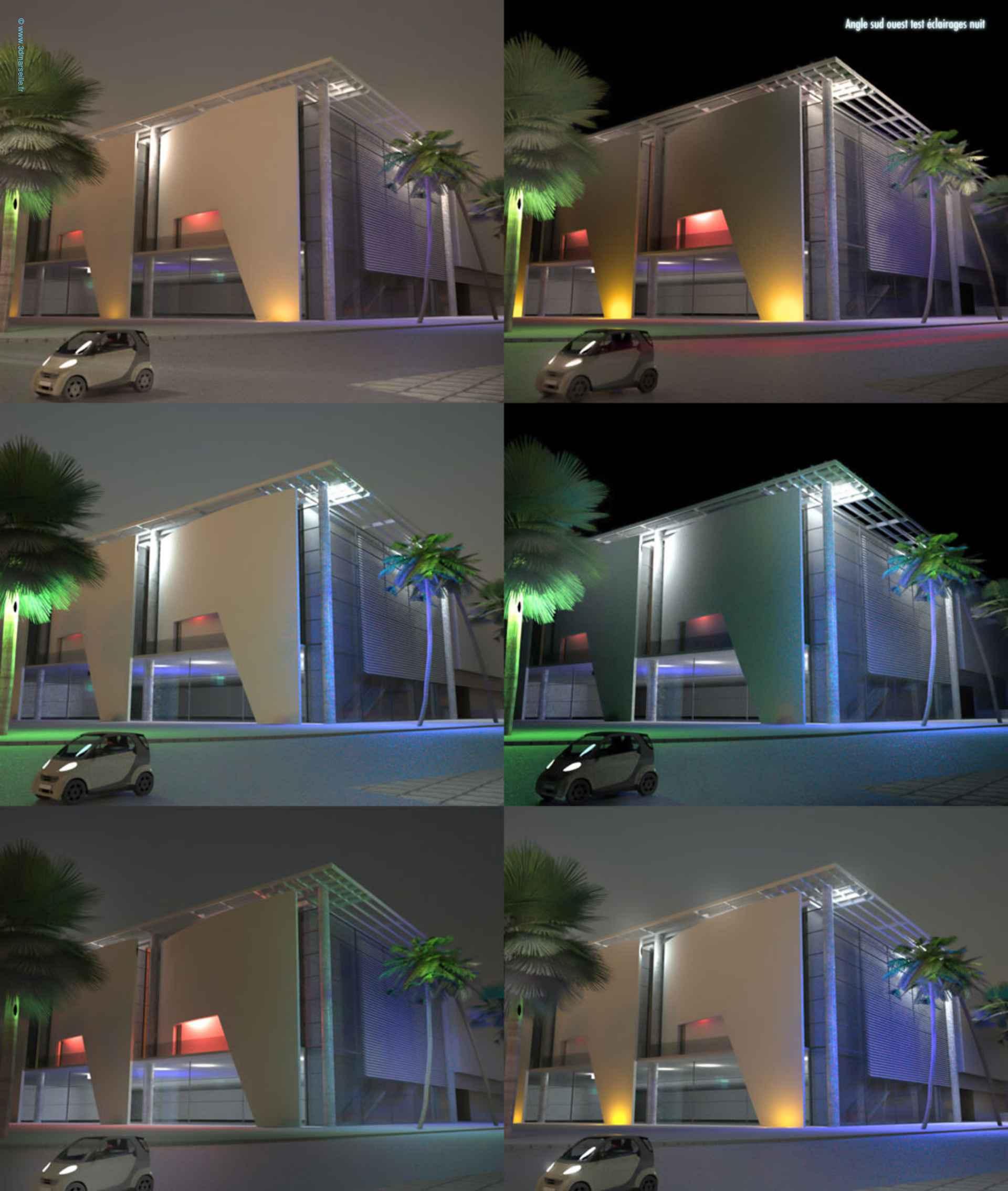 Simulation 3d éclairage scénographie