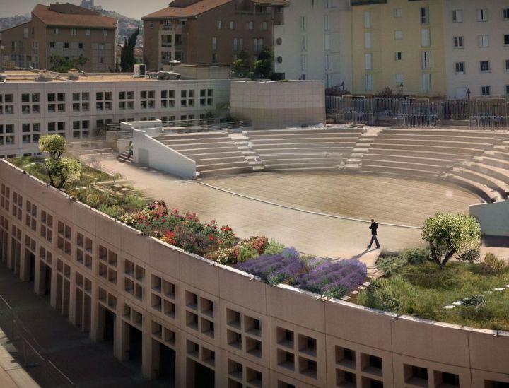 Toits terrasses du conseil régional 13