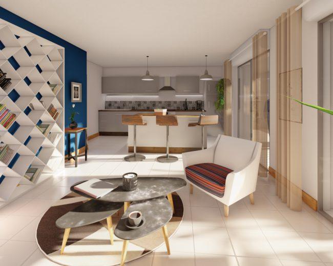 Visualisations intérieures et extérieures d'immeuble – Sogima