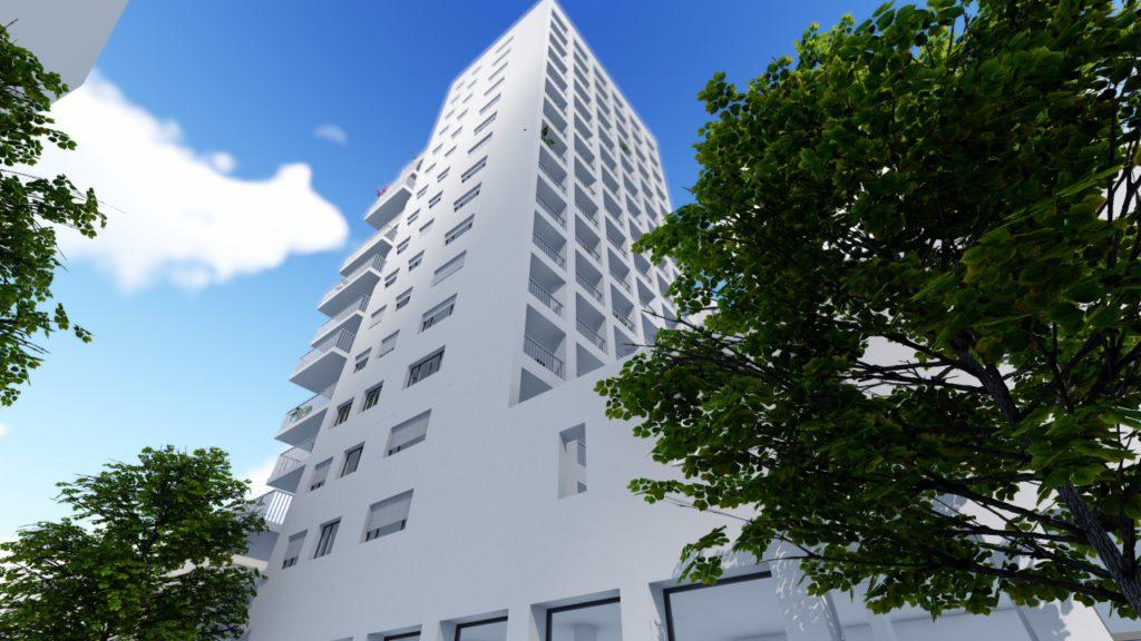 Perspectives extérieures Immeuble